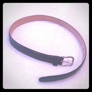 Boys genuine leather on full grain belt